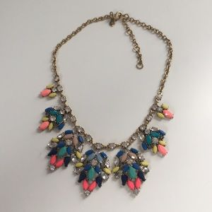 J Crew bright colorful statement necklace